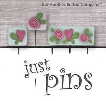 click here to view larger image of Hearts and Flower Pins (pin)