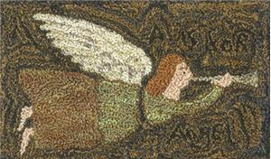 click here to view larger image of A is for Angel (Punchneedle)