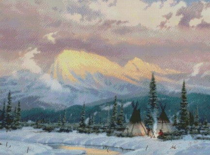 click here to view larger image of Lingering Dusk (counted cross stitch kit)