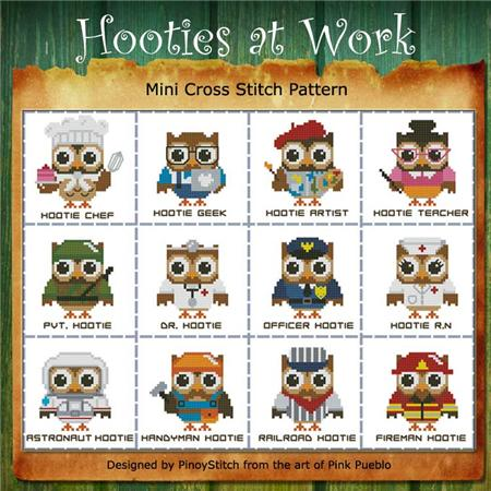 click here to view larger image of Hooties At Work Mini Collection (chart)