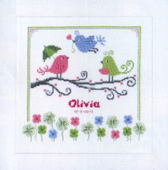 click here to view larger image of Colorful Birds (counted cross stitch kit)
