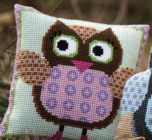 click here to view larger image of Miss Owl (counted cross stitch kit)