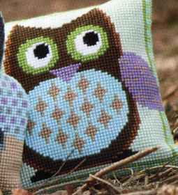 click here to view larger image of Mister Owl (counted cross stitch kit)