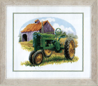 click here to view larger image of Green Tractor (counted cross stitch kit)