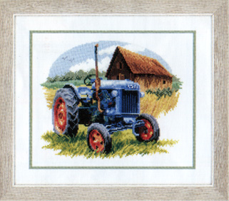 click here to view larger image of Blue Tractor (counted cross stitch kit)