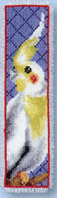 click here to view larger image of Cockatiel Bookmark (counted cross stitch kit)