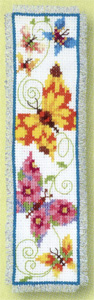 click here to view larger image of Butterflies Flapping II Bookmark (counted cross stitch kit)