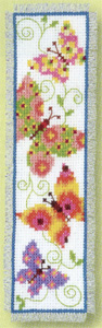 click here to view larger image of Butterflies Flapping I Bookmark (counted cross stitch kit)