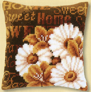 click here to view larger image of Modern Daisies (counted cross stitch kit)