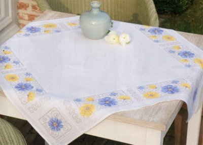 click here to view larger image of Blue and Yellow Flowers (counted cross stitch kit)