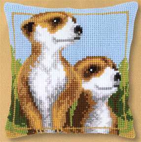click here to view larger image of Meerkats (counted cross stitch kit)