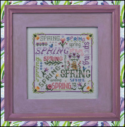 click here to view larger image of Spring Typography (chart with charms/buttons)