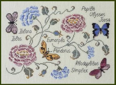 click here to view larger image of Butterflies (chart)