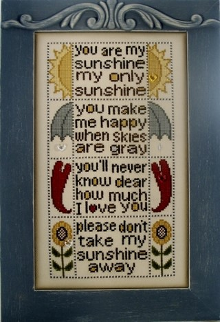 click here to view larger image of You Are My Sunshine (chart with charms/buttons)