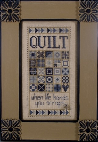 click here to view larger image of Charmed Quilt Scraps (chart with charms/buttons)