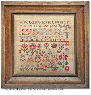 click here to view larger image of Reproduction Sampler of Swiss Origin RH 1868 (chart)