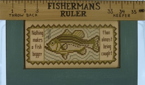 click here to view larger image of Charmed Fisherman's Ruler (chart with charms/buttons)