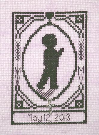 click here to view larger image of Special Memories Silhouette - First Communion Boy (chart with charms/buttons)