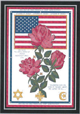click here to view larger image of God Bless The USA (chart)