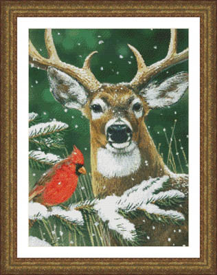 click here to view larger image of Deer and Cardinal (chart)