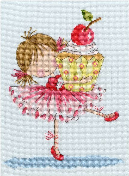 click here to view larger image of Cherry on Top (counted cross stitch kit)