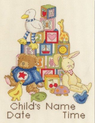 click here to view larger image of Building Blocks (counted cross stitch kit)