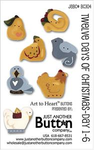 click here to view larger image of Twelve Days 1-6 - Button Card (buttons)