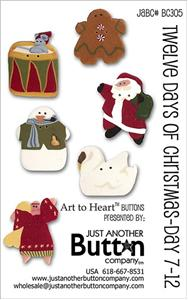 click here to view larger image of Twelve Days 1-7 - Button Card (buttons)