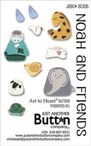 click here to view larger image of Noah and Friends - Button Card (buttons)