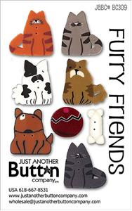 click here to view larger image of Furry Friends - Button Card (buttons)