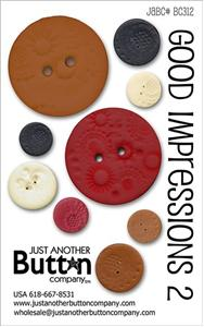 click here to view larger image of Good Impressions 2 - Button Card (buttons)