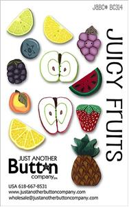 click here to view larger image of Juicy Fruits - Button Card (buttons)