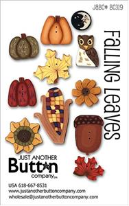 click here to view larger image of Falling Leaves  - Button Card (buttons)