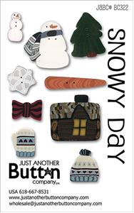 click here to view larger image of Snowy Day  - Button Card (buttons)