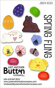 click here to view larger image of Spring Fling  - Button Card (buttons)