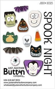 click here to view larger image of Spook Night  - Button Card (buttons)