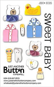 click here to view larger image of Sweet Baby - Button Card (buttons)