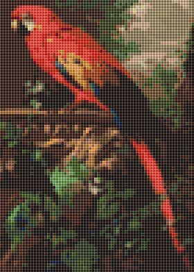 click here to view larger image of Scarlet Macaw in a Landscape (mini chart) (chart)