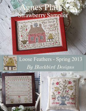 click here to view larger image of Agnes Platt's Strawberry Sampler - Loose Feathers (chart)