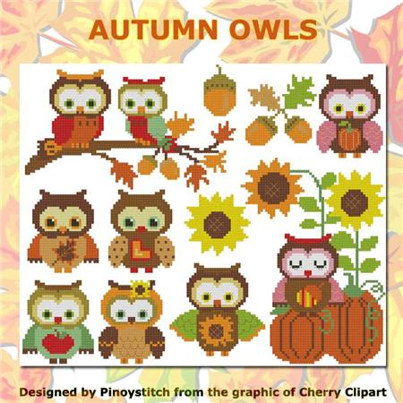 Autumn Owls - click here for more details about chart