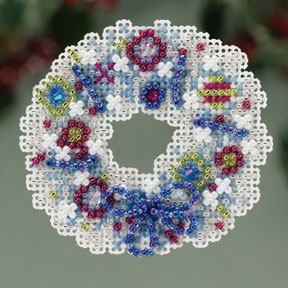 click here to view larger image of Crystal Wreath (2013) (counted cross stitch kit)