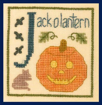 click here to view larger image of J Is For Jack O Lantern (chart)