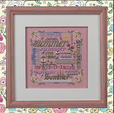click here to view larger image of Summer Typography (chart with charms/buttons)