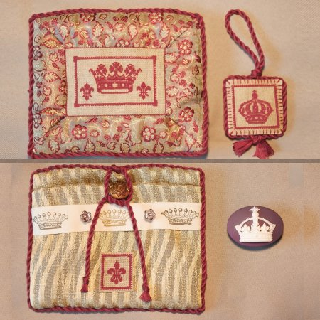 click here to view larger image of Crown Needle Minder Pouch (counted cross stitch kit)