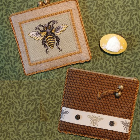 click here to view larger image of Bee Two Pocket Pouch (counted cross stitch kit)
