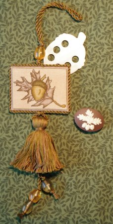 click here to view larger image of Acorn Fob/Pocket (counted cross stitch kit)