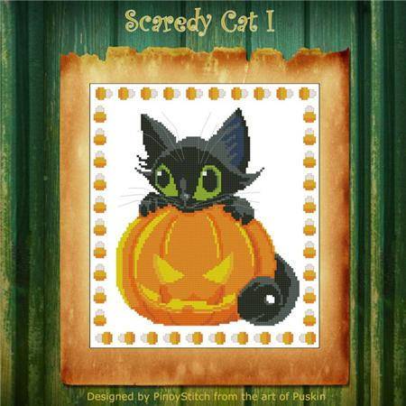 click here to view larger image of Scaredy Cat Halloween I (chart)