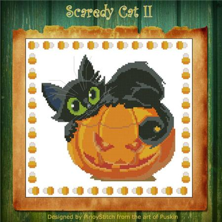 click here to view larger image of Scaredy Cat Halloween II (chart)