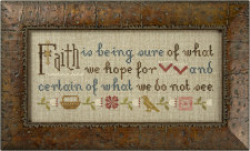 click here to view larger image of Faith Is Being Sure - Inspiration Boxer (counted cross stitch kit)