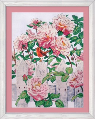 click here to view larger image of Roses in Provence (counted cross stitch kit)